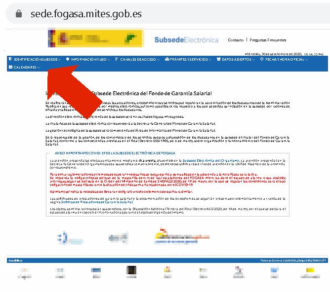 web del FOGASA