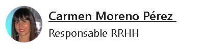 Carmen Moreno Responsable de RR.HH.